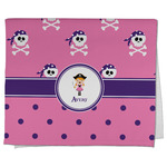 Pink Pirate Kitchen Towel - Full Print (Personalized)