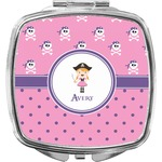 Pink Pirate Compact Makeup Mirror (Personalized)
