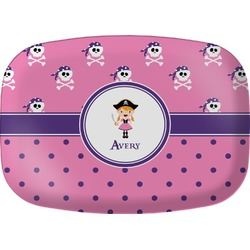 Pink Pirate Melamine Platter (Personalized)