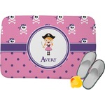 Pink Pirate Memory Foam Bath Mat (Personalized)