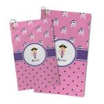 Pink Pirate Microfiber Golf Towel (Personalized)