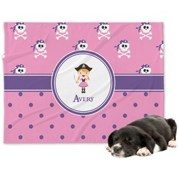 Pink Pirate Minky Dog Blanket (Personalized)