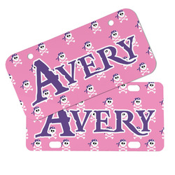 Pink Pirate Mini/Bicycle License Plates (Personalized)