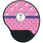 Pink Pirate Mouse Pad with Wrist Support