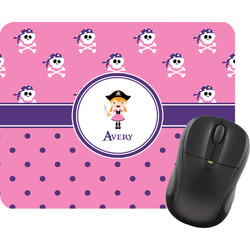Pink Pirate Mouse Pad (Personalized)