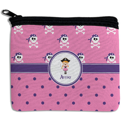 Pink Pirate Rectangular Coin Purse (Personalized)