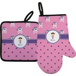 Pink Pirate Oven Mitt & Pot Holder (Personalized)