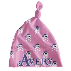 Pink Pirate Newborn Hat - Knotted (Personalized)