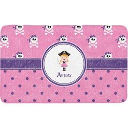 Pink Pirate Bath Mat (Personalized)