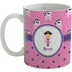 Pink Pirate Coffee Mug (Personalized)