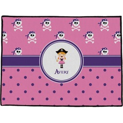 Pink Pirate Door Mat (Personalized)