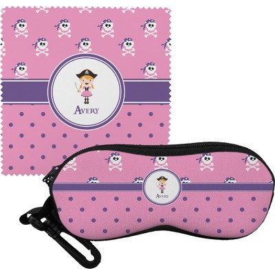 Pink Pirate Eyeglass Case & Cloth (Personalized)