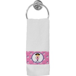 Pink Pirate Hand Towel (Personalized)