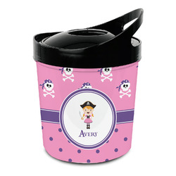 Pink Pirate Plastic Ice Bucket (Personalized)