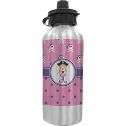 Pink Pirate Water Bottle (Personalized)
