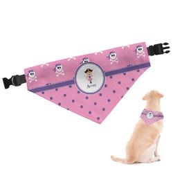 Pink Pirate Dog Bandana (Personalized)