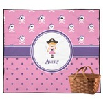 Pink Pirate Outdoor Picnic Blanket (Personalized)