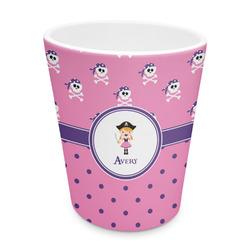 Pink Pirate Plastic Tumbler 6oz (Personalized)