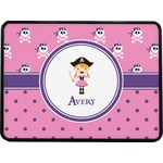 Pink Pirate Rectangular Trailer Hitch Cover (Personalized)