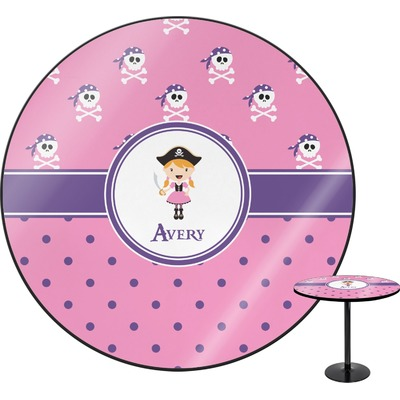 Pink Pirate Round Table (Personalized)