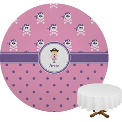 Pink Pirate Round Tablecloth (Personalized)