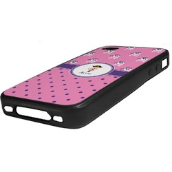 Pink Pirate Rubber iPhone Case 4/4S (Personalized)