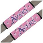 Pink Pirate Seat Belt Covers (Set of 2) (Personalized)