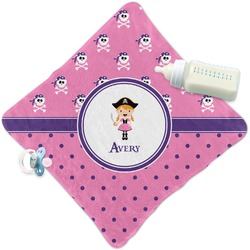 Pink Pirate Security Blanket (Personalized)