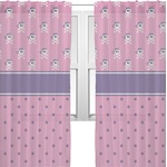 Pink Pirate Sheer Curtains (Personalized)