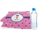 Pink Pirate Sports Towel (Personalized)
