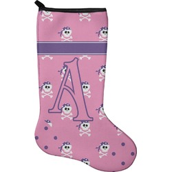 Pink Pirate Christmas Stocking - Neoprene (Personalized)