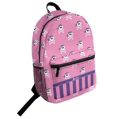 Pink Pirate Student Backpack (Personalized)