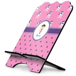 Pink Pirate Stylized Tablet Stand (Personalized)