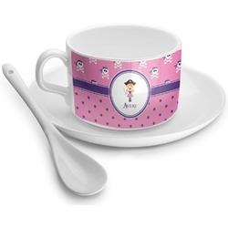 Pink Pirate Tea Cup - Single (Personalized)