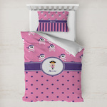 Pink Pirate Toddler Bedding w/ Name or Text
