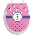 Pink Pirate Toilet Seat Decal (Personalized)