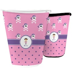 Pink Pirate Waste Basket (Personalized)