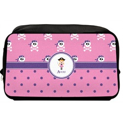 Pink Pirate Toiletry Bag / Dopp Kit (Personalized)