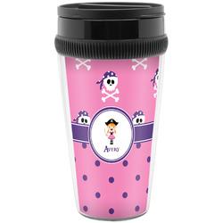 Pink Pirate Travel Mugs (Personalized)