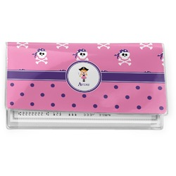 Pink Pirate Vinyl Checkbook Cover (Personalized)