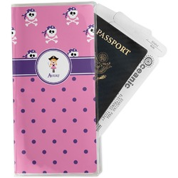 Pink Pirate Travel Document Holder