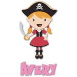 Pink Pirate Graphic Decal - Custom Sizes (Personalized)
