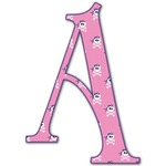 Pink Pirate Letter Decal - Custom Sizes (Personalized)