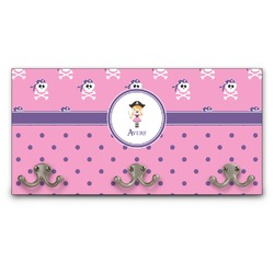 Pink Pirate Wall Mounted Coat Rack (Personalized)