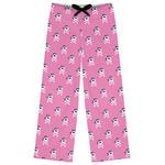 Pink Pirate Womens Pajama Pants (Personalized)