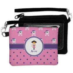 Pink Pirate Wristlet ID Case w/ Name or Text