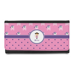 Pink Pirate Leatherette Ladies Wallet (Personalized)