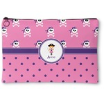 Pink Pirate Zipper Pouch (Personalized)