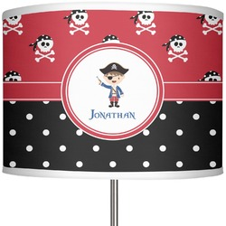 """Pirate & Dots 13"""" Drum Lamp Shade (Personalized)"""