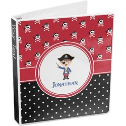 Pirate & Dots 3-Ring Binder (Personalized)